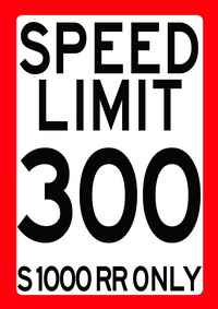 SPEED LIMIT 300 - S 1000 RR